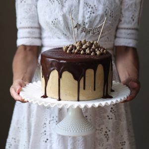 Mocha Mud Cake with Coffee Swiss Meringue Buttercream