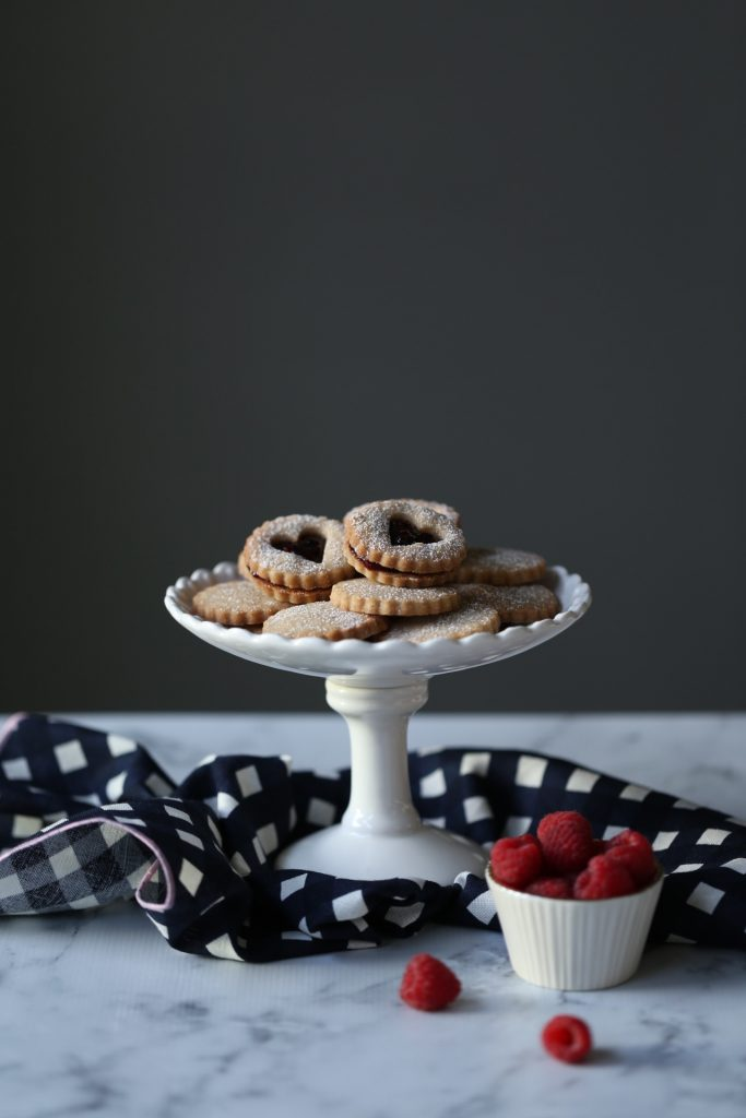 Rose Cardamom Cookies with Raspberry and Pomegranate Jam