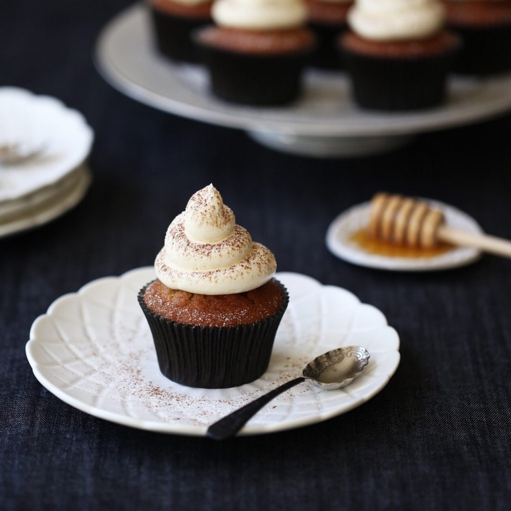 Chai Spice Cupcakes with Honey Swiss Meringue Buttercream