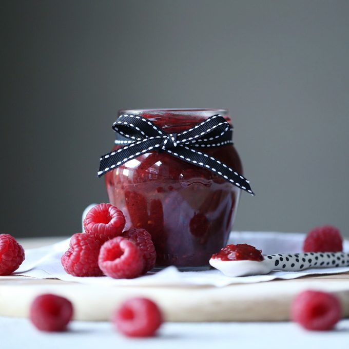 Rhubarb Raspberry and Vanilla Jam