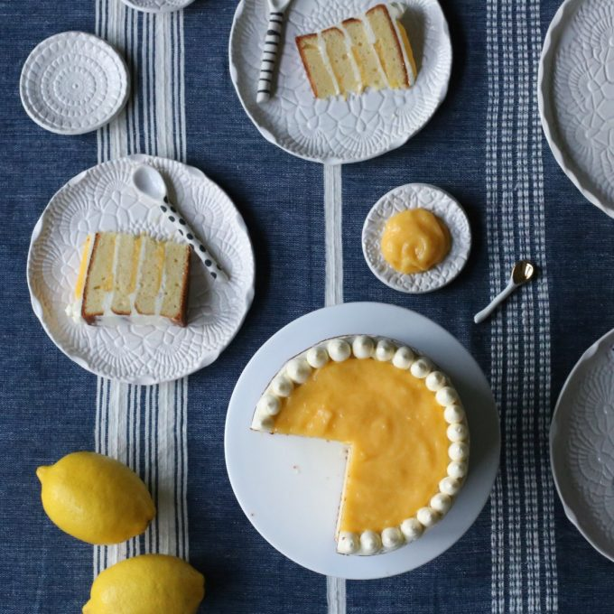 Lemon Curd and Coconut Cake