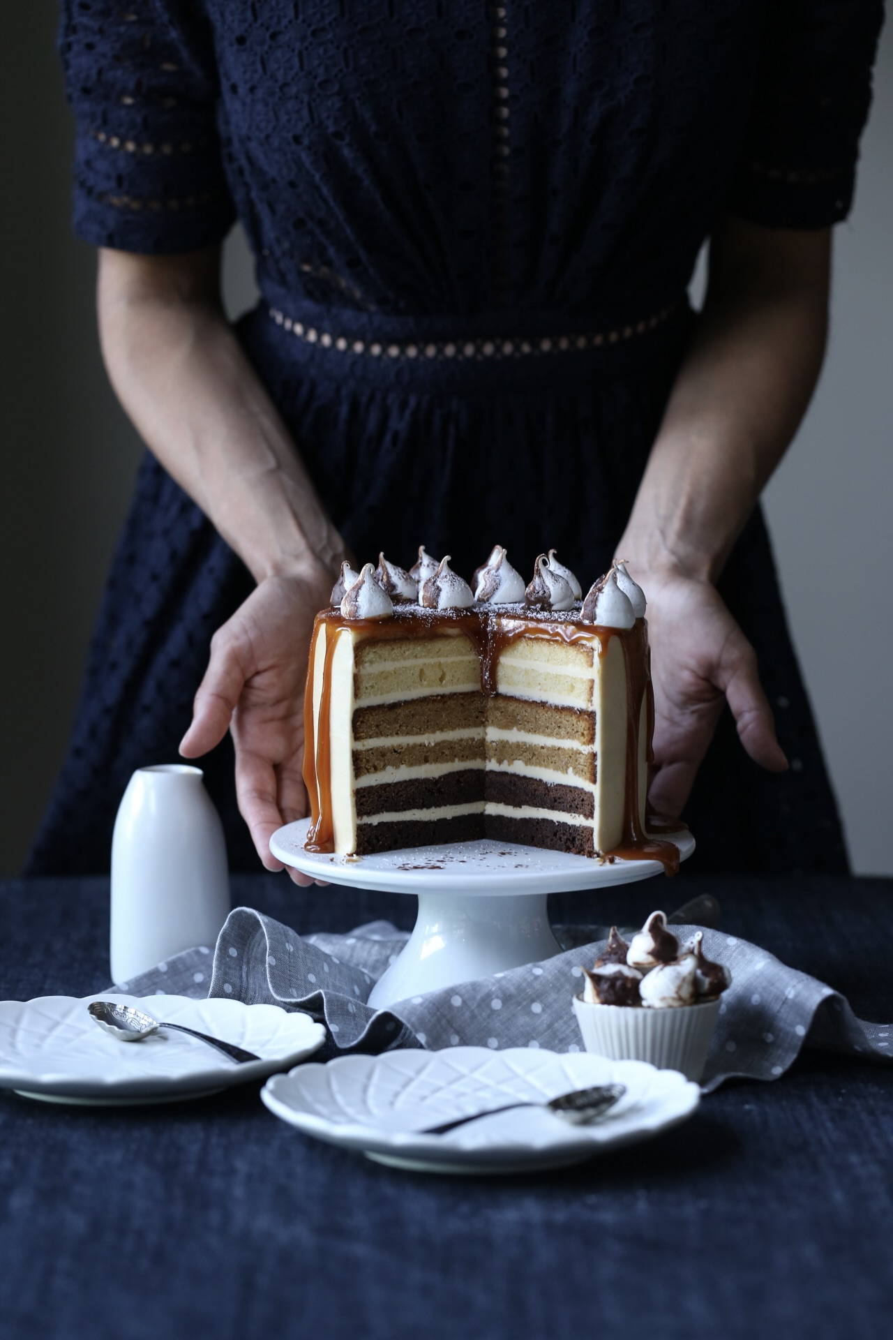 Chocolate Salted Caramel Ombre Cake