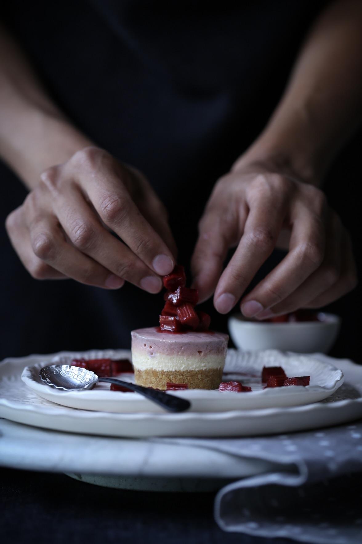 Spice Infused Rhubarb Cheesecake
