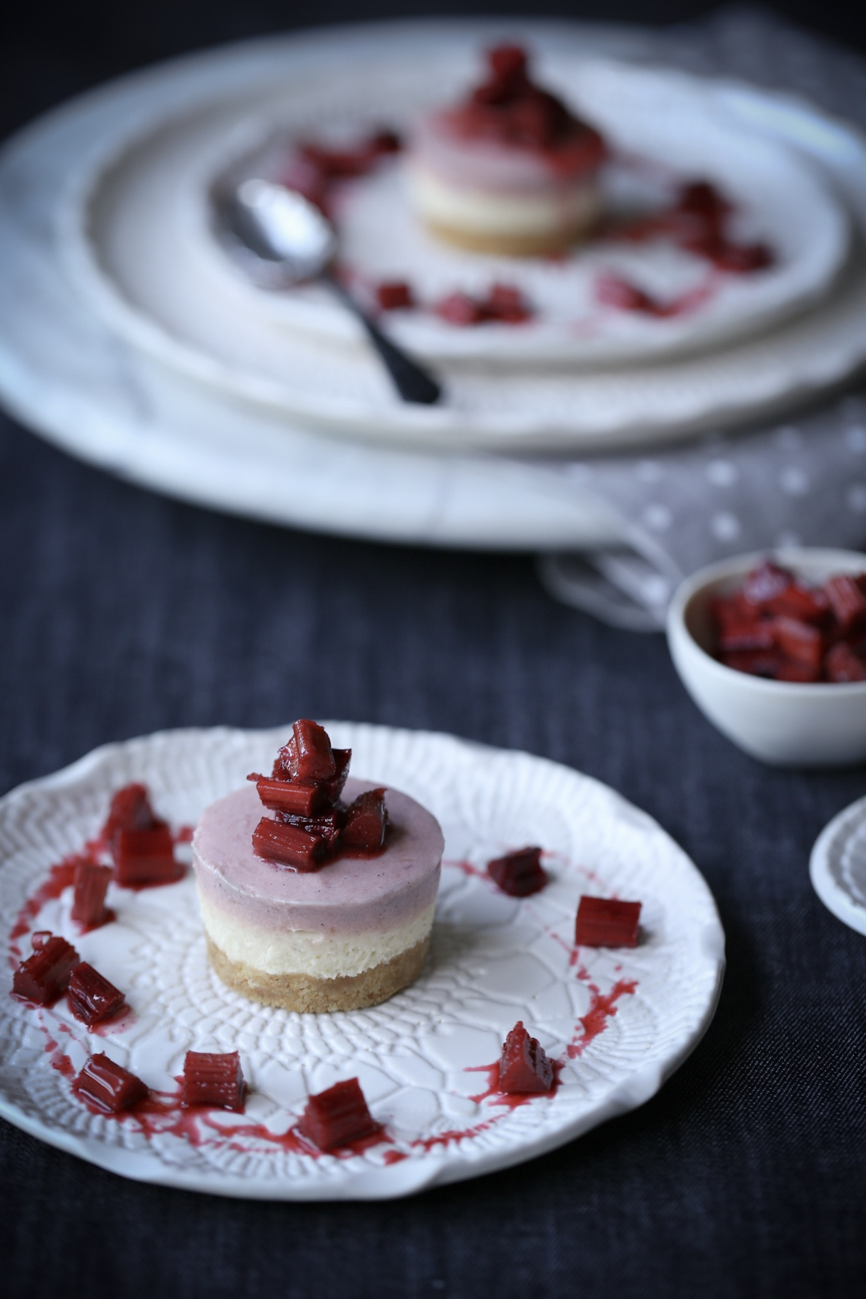 Spice Infused Rhubarb Cheesecake