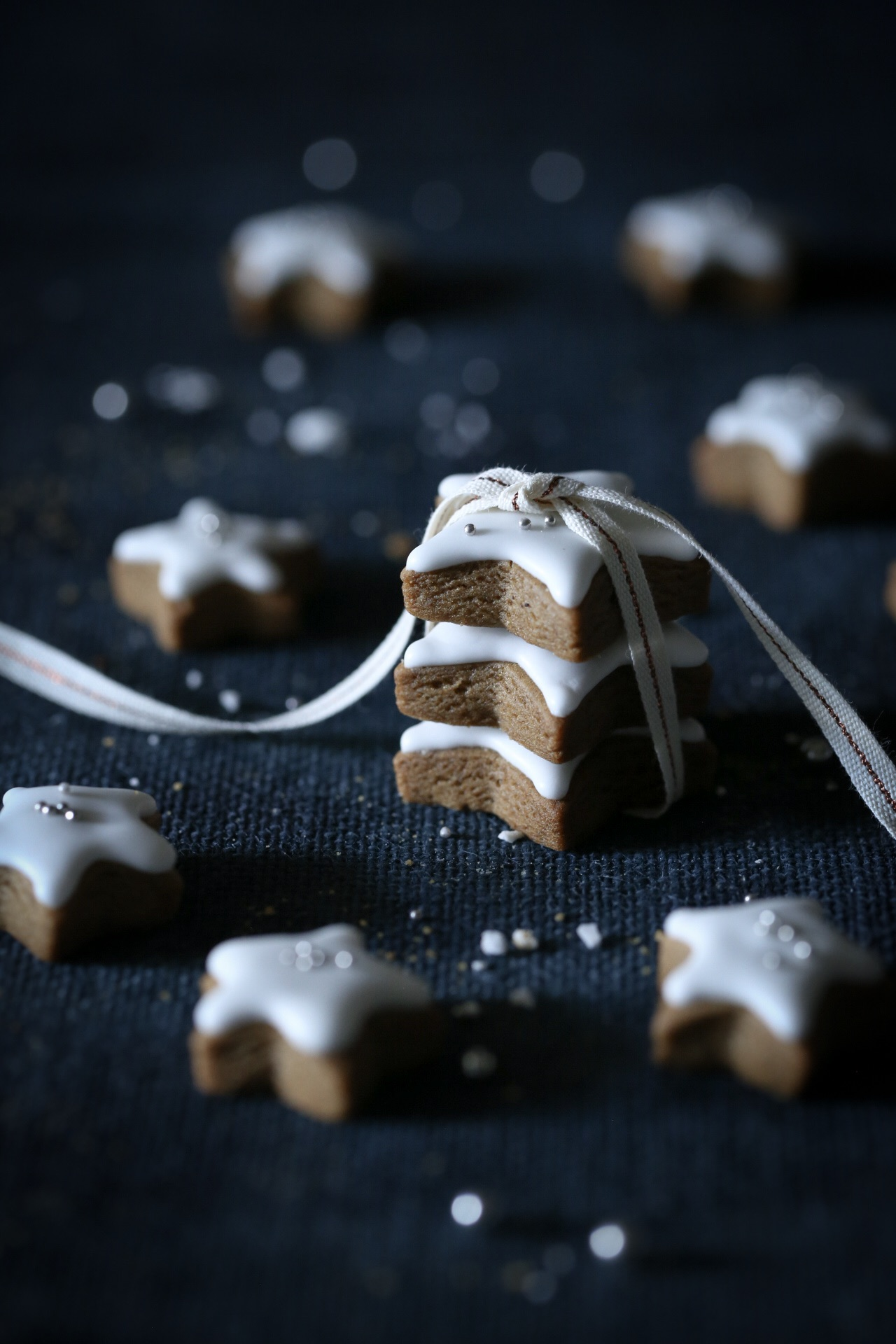 Gingerbread Cookies with Lemon Icing