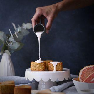 Lemon Rose Pistachio Cakes + Grapefruit Glaze | The Polka Dotter