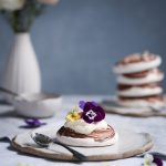 Chocolate Swirled Meringues + Blood Orange Curd