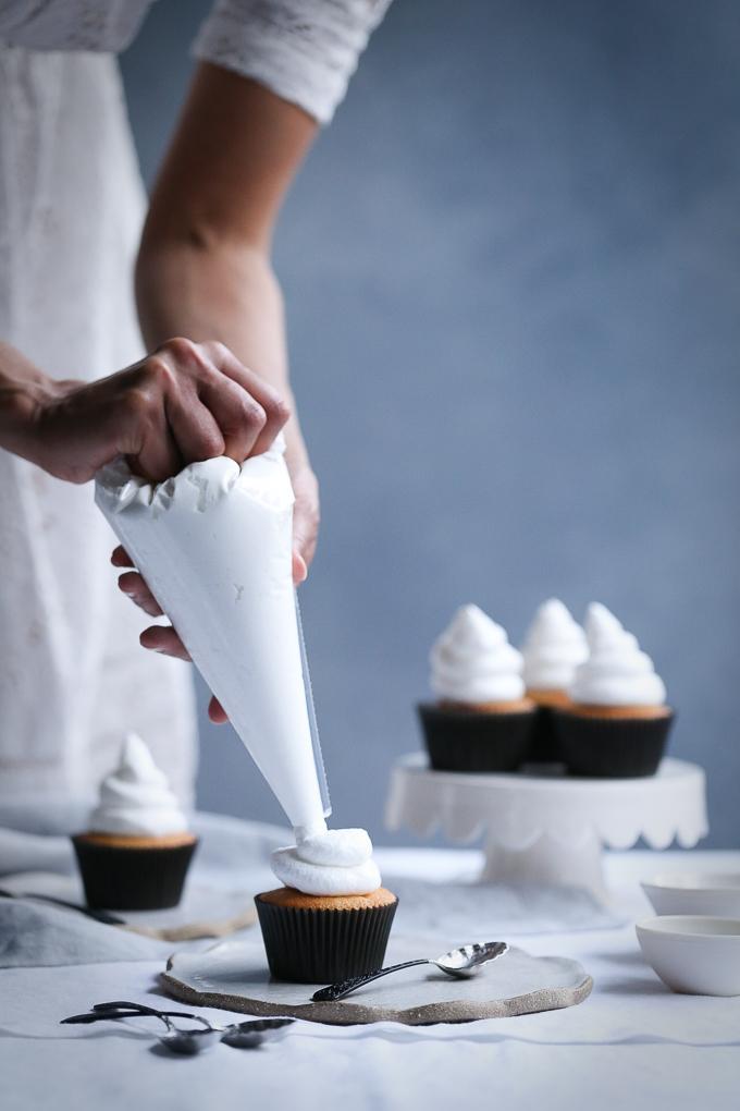 Coconut Meringue Cupcakes + Blood Orange Curd   The Polka Dotter