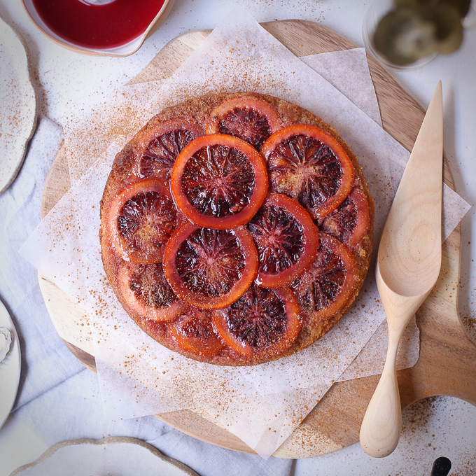 Blood Orange Cardamom Syrup Cake | The Polka Dotter