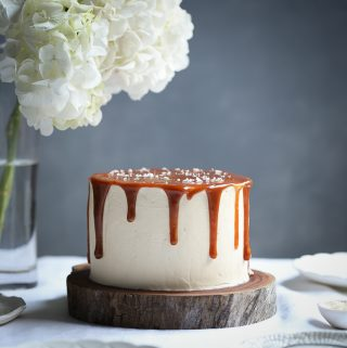 Gingerbread Cake with Salted Caramel | The Polka Dotter