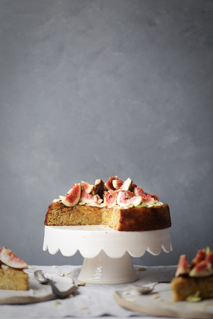 Spiced Orange Pistachio Cake + Fresh Figs & Ginger Syrup | The Polka Dotter
