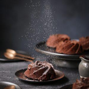 Chocolate Mandarin Rosemary Bundt Cakes   The Polka Dotter