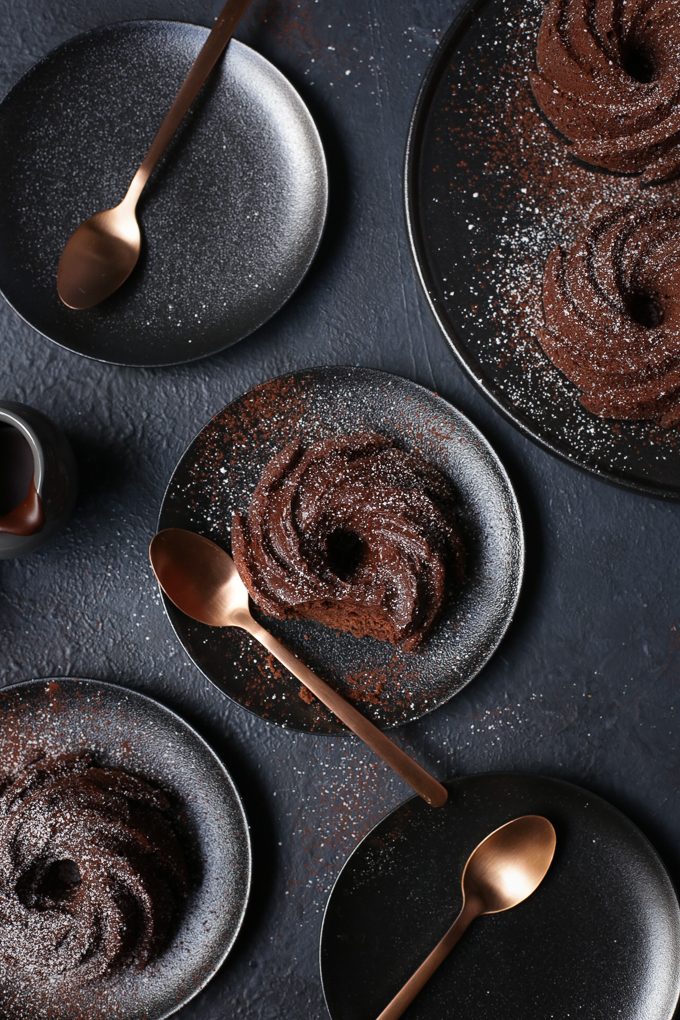 Chocolate Mandarin Rosemary Bundt Cakes | The Polka Dotter