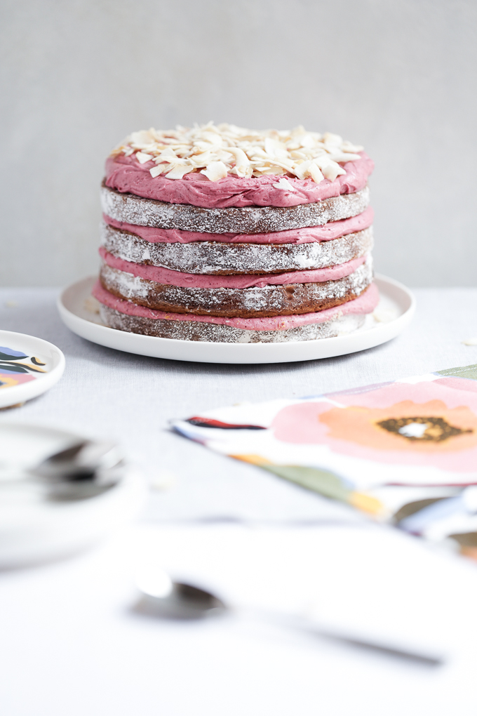 Strawberry Hibiscus & Coconut Cake | The Polka Dotter