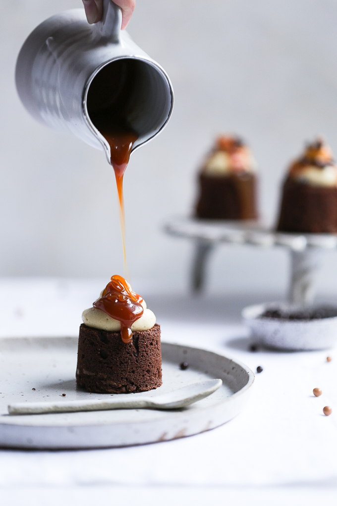 Earl Grey + Salted Caramel Brownies | The Polka Dotter