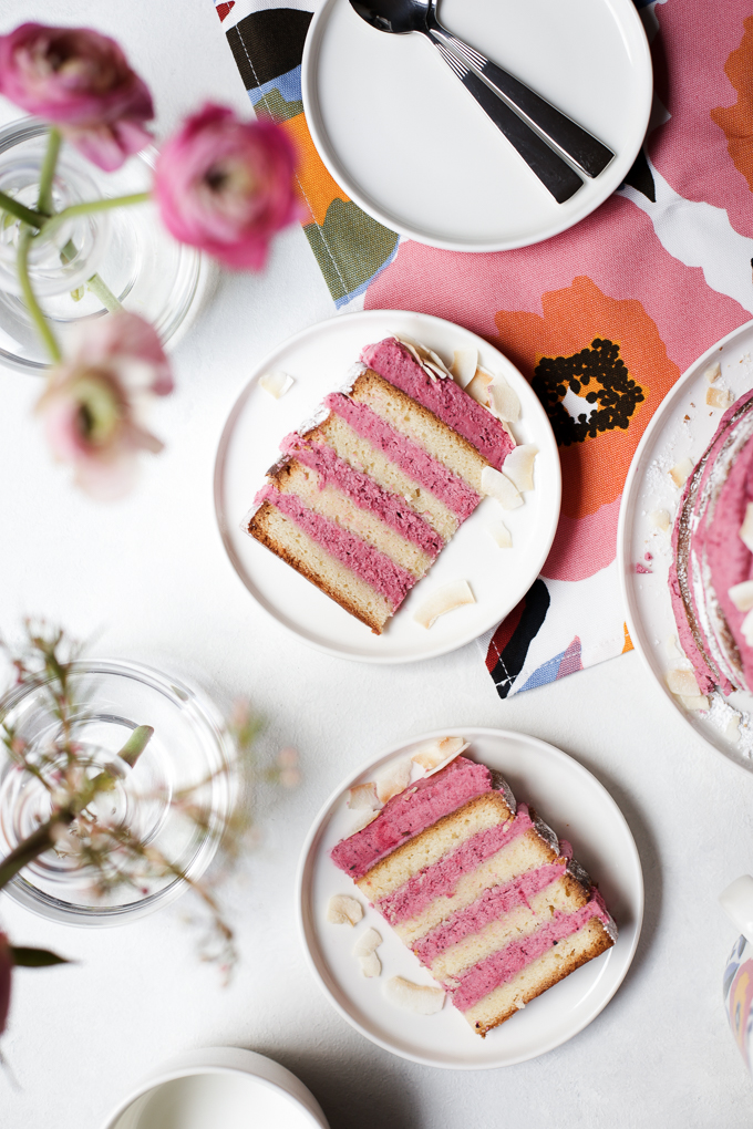 Strawberry Hibiscus and Coconut Cake   The Polka Dotter