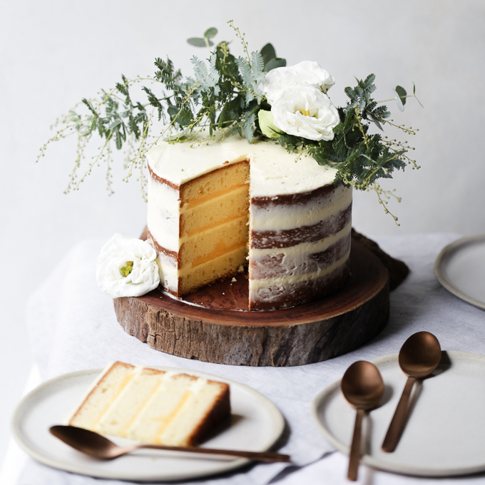 Lemon Curd and Coconut Cake | The Polka Dotter