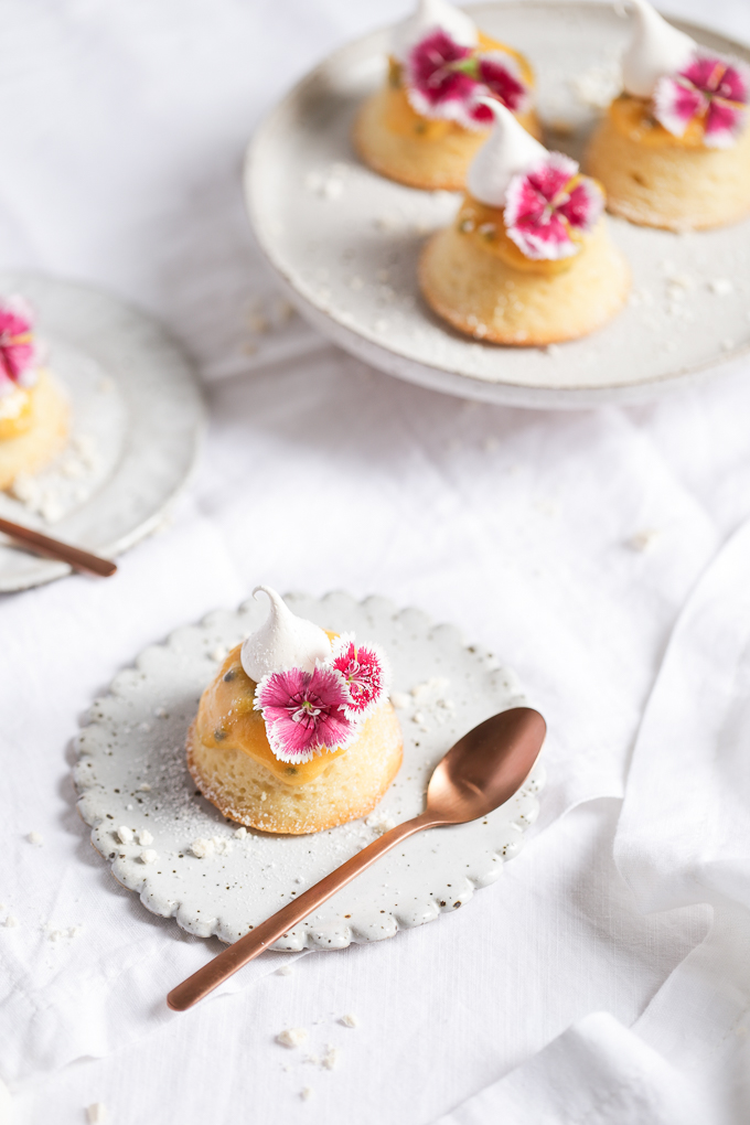 White Chocolate Teacakes + Passionfruit Curd   The Polka Dotter