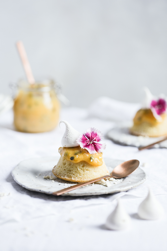 White Chocolate Teacakes + Passionfruit Curd | The Polka Dotter