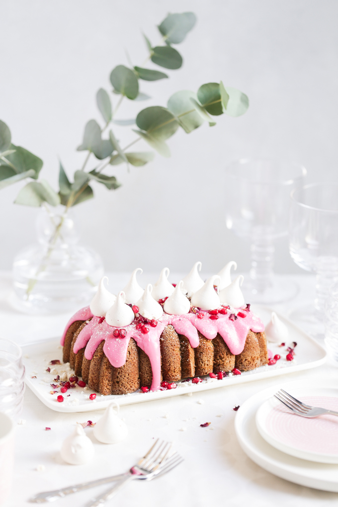 Pomegranate Drizzle Cake | The Polka Dotter