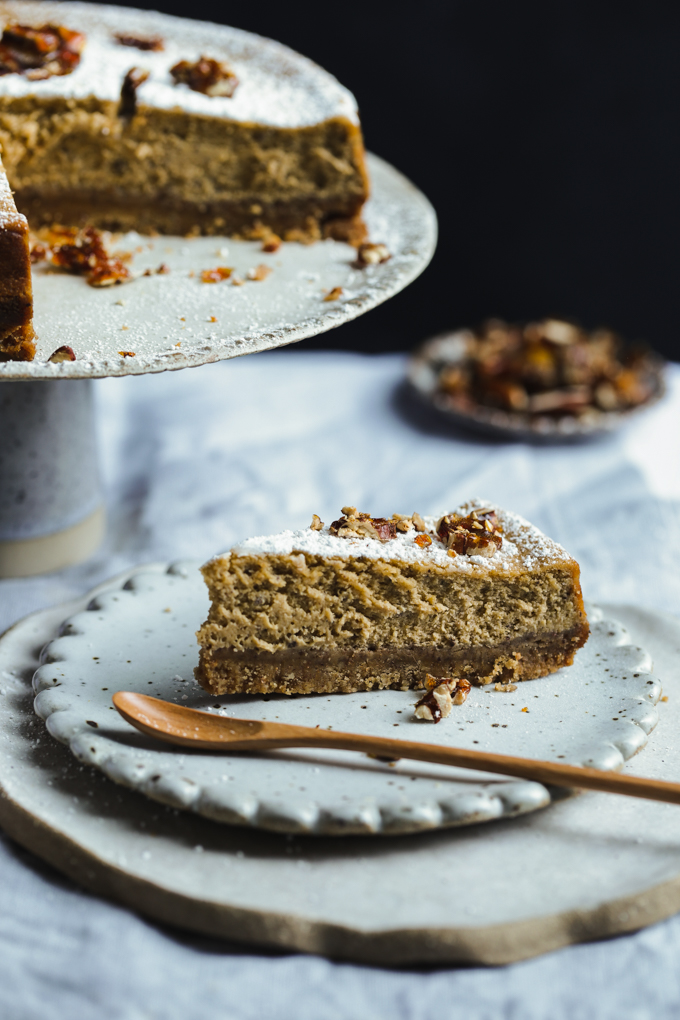 Pumpkin Chai Cheesecake | The Polka Dotter