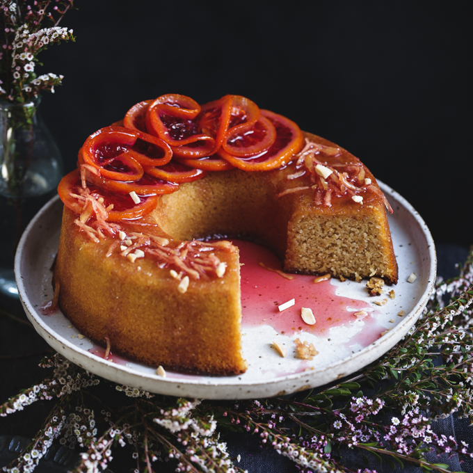 Blood Orange & Ginger Syrup Cake {gluten-free} | The Polka Dotter