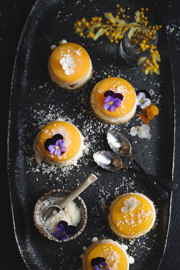 Mango & Macadamia Mini Ice Cream Cakes | The Polka Dotter