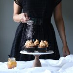 Banana Sour Cream Cupcakes with Salted Caramel Frosting