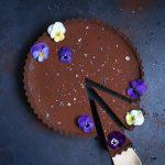 Chocolate Earl Grey Tart + Sea Salt (gf) | The Polka Dotter