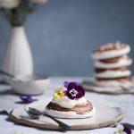 Chocolate Swirled Meringues + Blood Orange Curd | The Polka Dotter