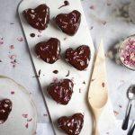 Mocha Hearts + Dark Chocolate Glaze   The Polka Dotter