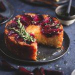 Plum & Thyme Upside-Down Cake {Gluten-free} | The Polka Dotter